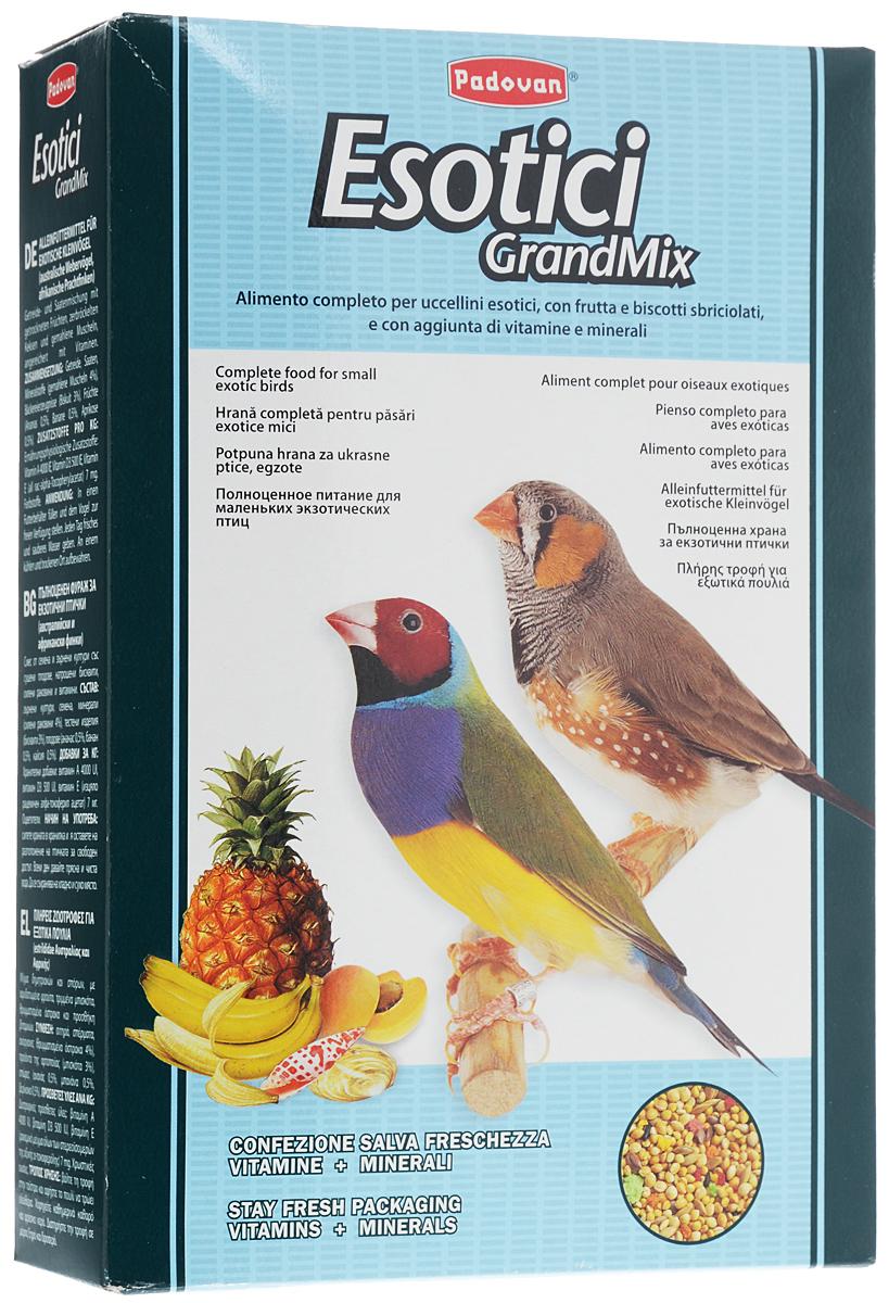 Корм для экзотических птиц Padovan Grandmix Esotici, 1 кг0120710Корм Padovan Grandmix Esotici - это комплексный, высококачественный основной корм с фруктами и бисквитной крошкой.Состав: злаки, семена, минеральные вещества (измельченные ракушки 4%), хлебопродукты (печенье 3%), фрукты (ананас 0,5%, банан 0,5%, абрикос 0,5%).Вес: 1 кг.Товар сертифицирован.
