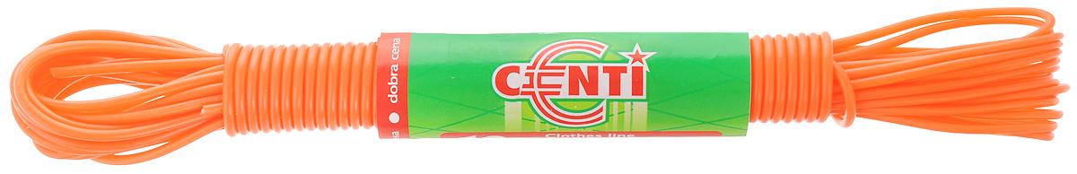 Шнур для белья Centi, цвет: оранжевый, 10 мGC204/30Бельевая веревка Centi изготовлена из высококачественного полиэтилена и полипропилена. Веревка очень крепкая и надежная. При натягивании не провисает.Длина веревки: 10 м. Диаметр веревки: 2 мм.