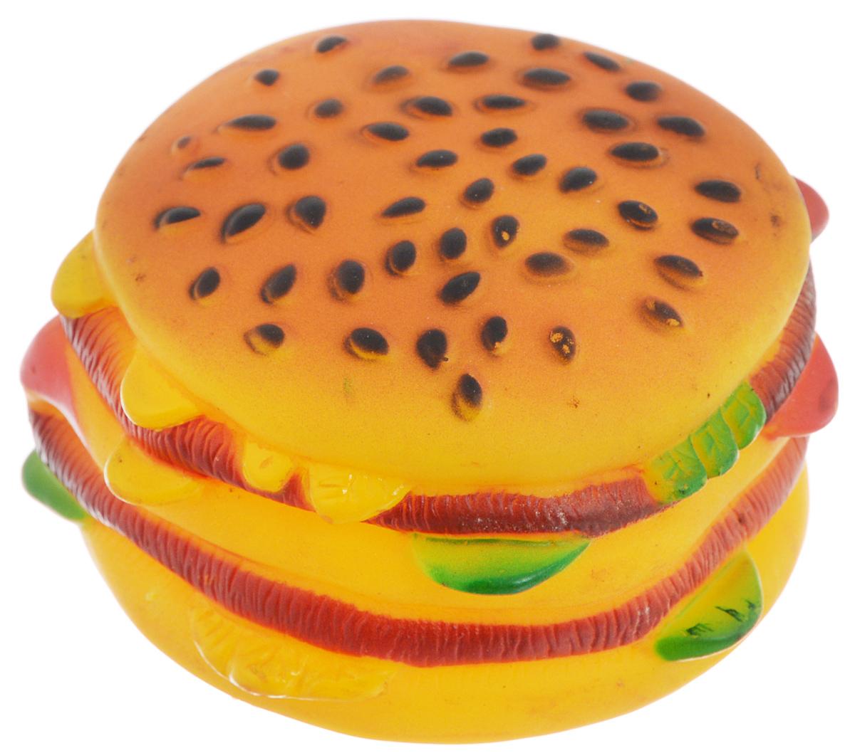 Игрушка для животных Каскад Гамбургер,диаметр 7,5 см75088Игрушка Каскад Гамбургер изготовлена из прочной и долговечной резины, устойчивой к разгрызанию. Необычная и забавная игрушка прекрасно подойдет для собак, любящих игрушки с пищалками. Такая игрушка порадует вашего любимца, а вам доставит массу приятных эмоций, ведь наблюдать за игрой всегда интересно и приятно. Диаметр: 7,5 см.