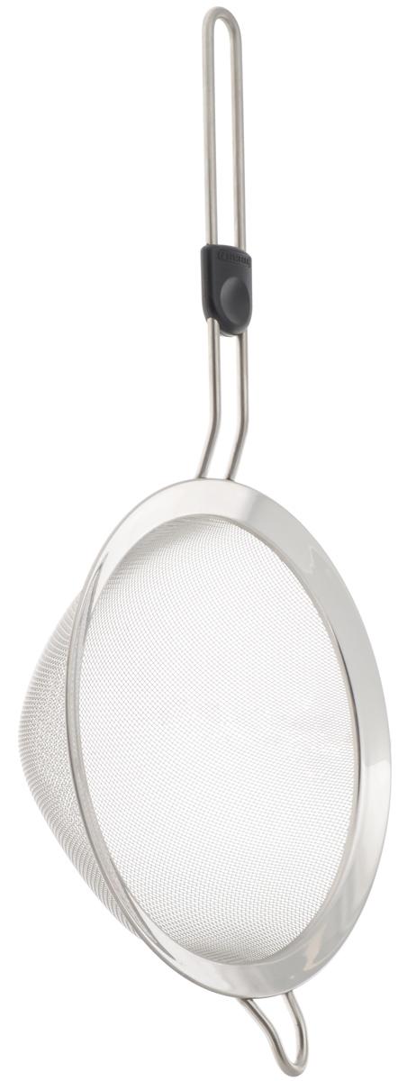 Сито Leifheit Pro Line, с ручкой, диаметр 20 смW26040017_голубойСито Leifheit Pro Line, выполненное из высококачественной нержавеющей стали, станет незаменимым аксессуаром на вашей кухне. Сито имеет удобную ручку и снабжено петлей для подвешивания. Такое сито станет достойным дополнением к кухонному инвентарю.Можно мыть в посудомоечной машине.Диаметр сита: 20 см.Длина ручки: 18,5 см.