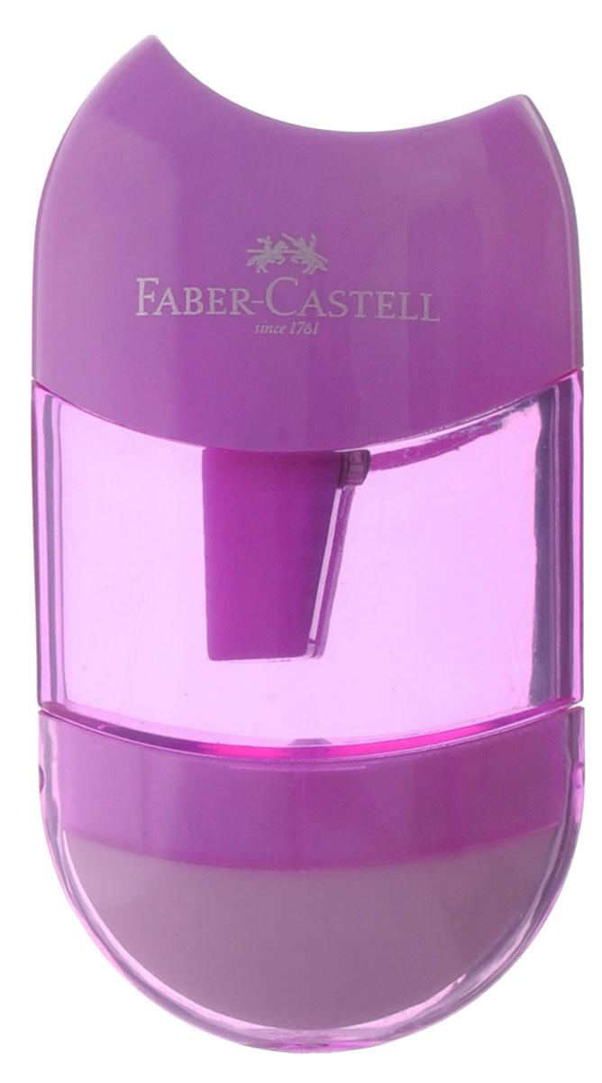 Faber-Castell Точилка с контейнером и ластиком цвет сиреневый730396Точилка Faber-Castell - качественная простая точилка с контейнером для стружек и ластиком.Точилка предназначена для классических, трехгранных, простых и цветных карандашей.