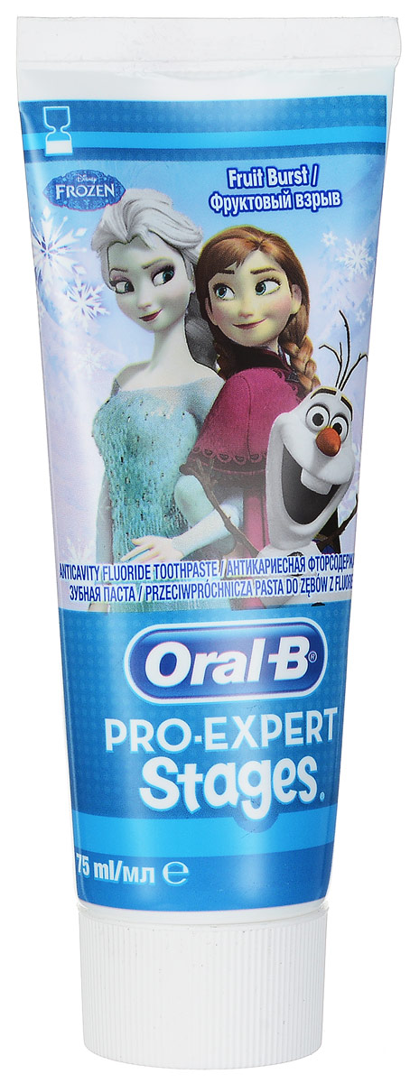 Oral-B Зубная паста Pro-Expert Disney Холодное сердце, 75 млMP59.4DВы хотите, чтобы ваши дети научились правильно чистить зубы? Тогда они полюбят зубную пасту Oral-B Pro-Expert Disney Холодное сердце. Благодаря дизайну с любимыми героями ваши дети будут учиться правильно чистить зубы с помощью мятной формулы, которая защищает от кариеса. Используйте вместе с интерактивным приложением Disney Magic Timer от Oral-B, чтобы помочь своим детям чистить зубы рекомендованые стоматологом 2 минуты, и их улыбки будут сиять. Срок хранения – 1 год 11 месяцев.Страна производства - Германия.