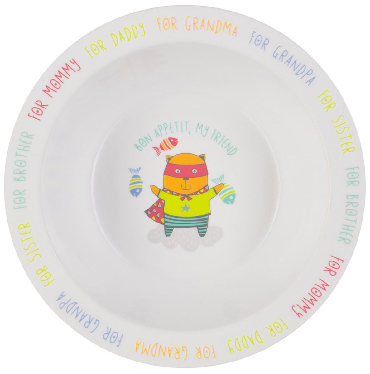 Happy Baby Тарелка детская Кот115510Тарелка детская Happy Baby Кот изготовлена из безопасного материала.Тарелочка, оформленная веселой картинкой, понравится и малышу, и родителям! Ребенок будет с удовольствием учиться кушать самостоятельно. Тарелочка подходит для горячей и холодной пищи.Яркий дизайн тарелки превращает процесс кормления в увлекательную игру.Можно использовать в СВЧ-печи и мыть в посудомоечной машине.Подходит для детей от 6 месяцев.