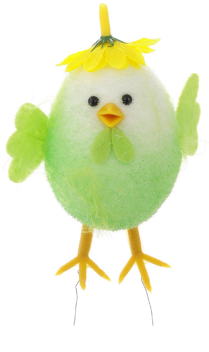 Декоративное украшение Home Queen Приветливый цыпленок, цвет: салатовый, 7 х 4,5 х 10 см19201Декоративное украшение Home Queen Приветливый цыпленок изготовлено из пера, полиэстера и пластика. Украшение выполнено в виде милого цыпленка.Такое украшение прекрасно оформит интерьер дома или станет замечательным подарком для друзей и близких на Пасху.