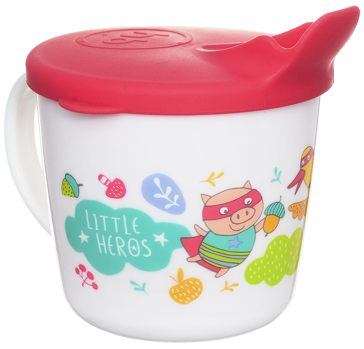 Happy Baby Чашка-поильник Поросенок Гусь Лиса от 8 месяцев стоимость