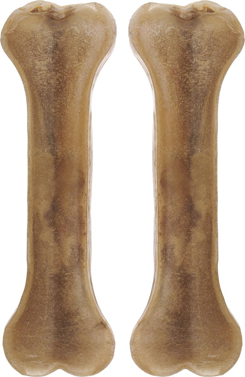 Лакомство для собак из жил Каскад Кость, длина 15 см, 2 шт0120710Лакомство для собак Каскад Кость идеально подходит для ухода за зубами и деснами. При ежедневном применении предупреждает образование зубного налета. Такая косточка будет аппетитным лакомством и занимательной игрушкой для вашего любимца.Комплектация: 2 шт.Размер косточки: 15 х 4,5 х 1,5 см.Вес одной косточки: 75-80 г.Товар сертифицирован.