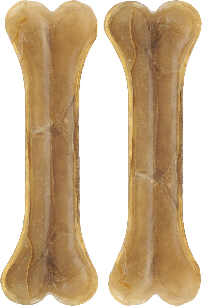 Лакомство для собак из жил Каскад Кость, длина 13 см, 2 шт0120710Лакомство для собак Каскад Кость идеально подходит для ухода за зубами и деснами. При ежедневном применении предупреждает образование зубного налета. Такая косточка будет аппетитным лакомством и занимательной игрушкой для вашего любимца.Комплектация: 2 шт.Размер косточки: 13 х 3 х 1,5 см.Вес одной косточки: 45-50 г.Товар сертифицирован.