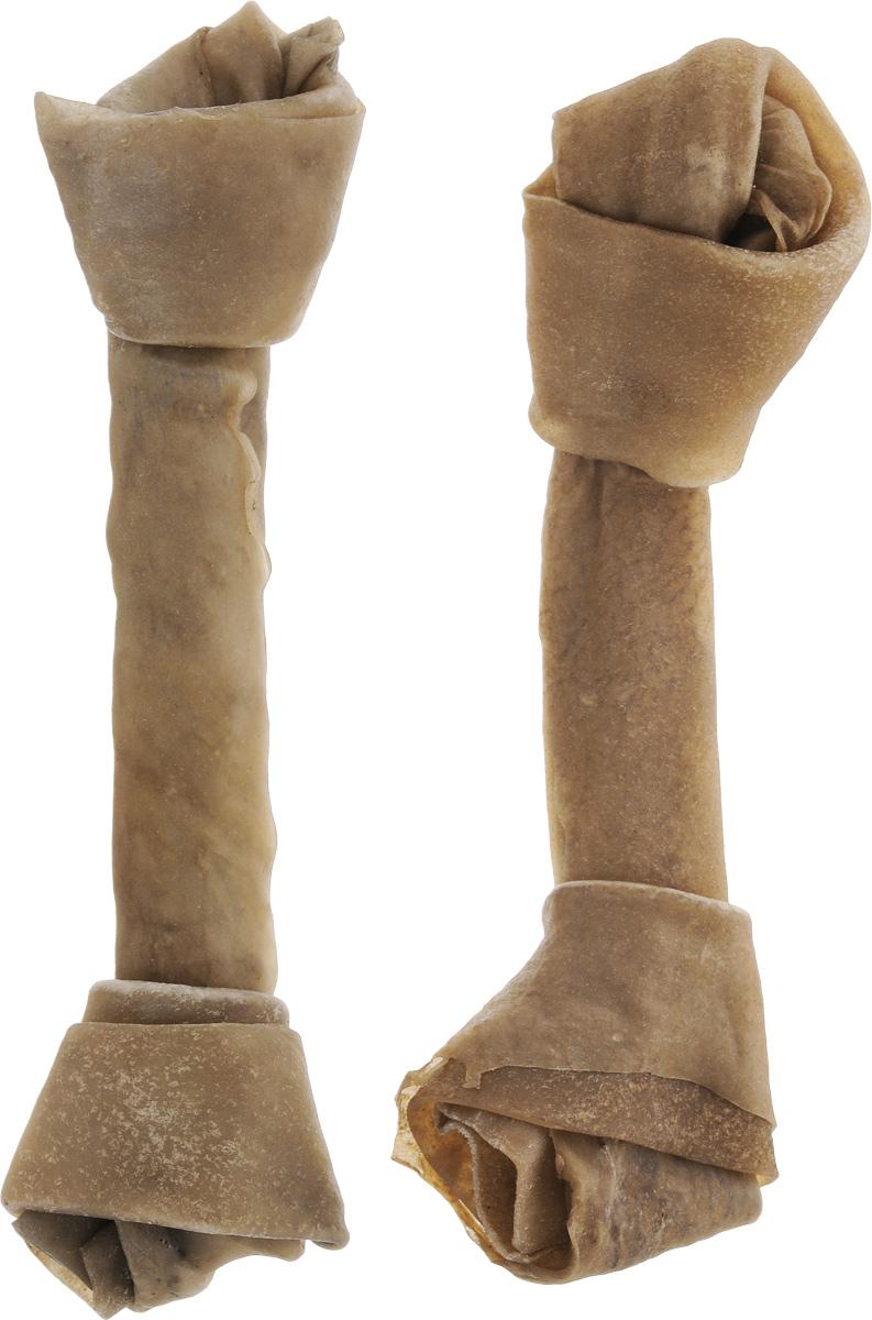 Лакомство для собак из жил Каскад Кость, с узлами, длина 20 см, 2 шт90072103Лакомство для собак Каскад Кость идеально подходит для ухода за зубами и деснами. При ежедневном применении предупреждает образование зубного налета. Такая косточка будет аппетитным лакомством и занимательной игрушкой для вашего любимца.Размер косточки: 20 х 5,5 х 3,5 см.Вес: 80-85 г.Товар сертифицирован.