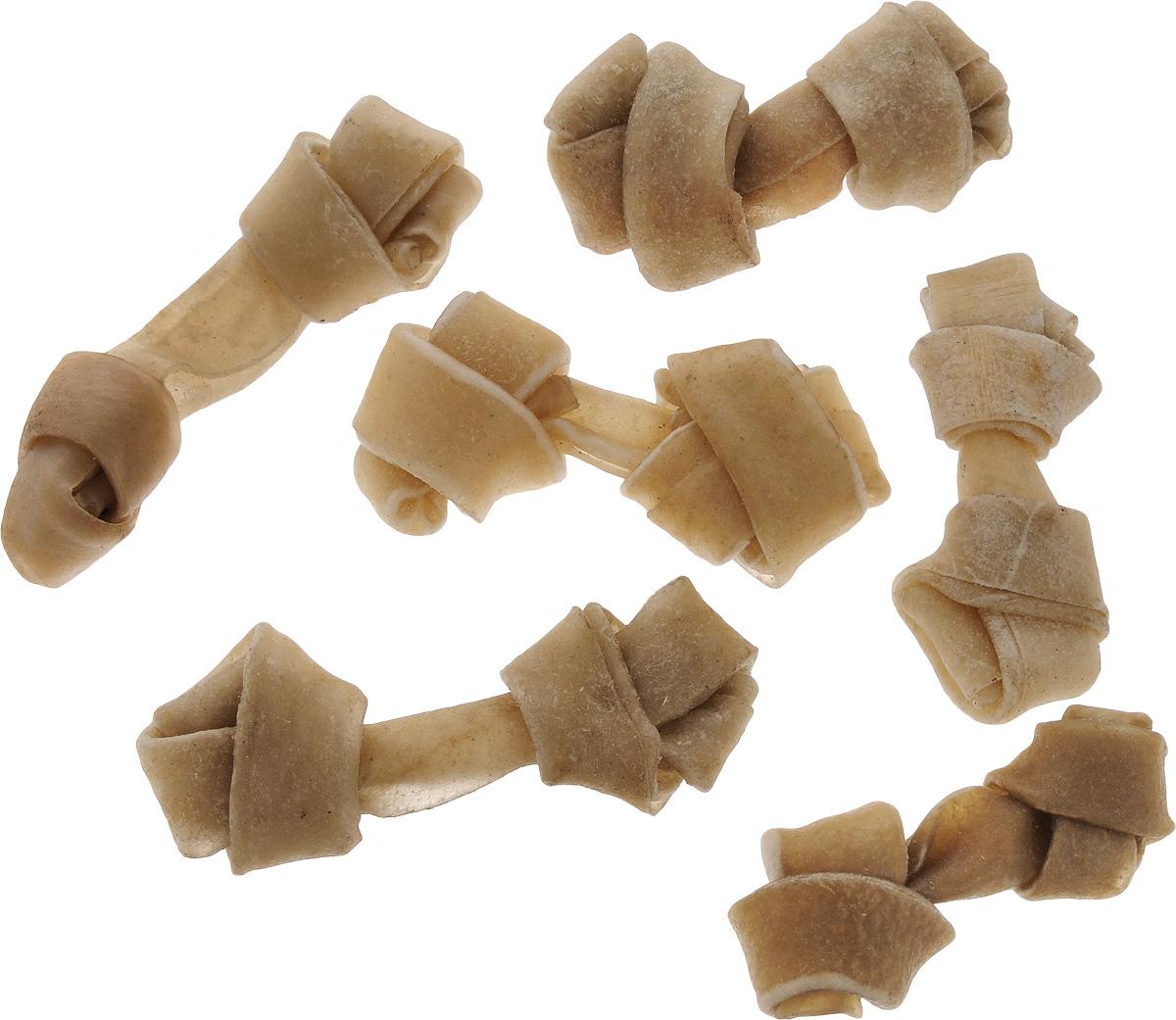 Лакомство для собак из жил Каскад Кость, с узлами, длина 8 см, 6 шт4605543006616Лакомство для собак Каскад Кость идеально подходит для ухода за зубами и деснами. При ежедневном применении предупреждает образование зубного налета. Такая косточка будет аппетитным лакомством и занимательной игрушкой для вашего любимца.Размер косточки: 8 х 2,5 х 1,5 см.Вес: 9-11 г.Товар сертифицирован.