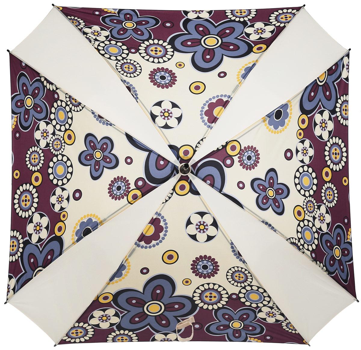 Зонт-трость женский Reisenthel, цвет: бежевый. YM3008CX1516-50-10Ни снег, ни проливной дождь не страшны, когда с вами ваш надежный друг - красивый зонт-трость. А надежен он благодаря своей инновационной форме в виде октагона - фигуры с 8 углами. У зонта гибкие спицы со специальными пружинами, которые не сломаются. При сильном ветре зонт просто вывернется наизнанку. А вот острый наконечник и ручка, которая позволяет повесить зонт - самые что ни на есть классические, удобные и красивые. Чтобы просушить его, просто оставьте открытым (пожалуйста, не сворачивайте зонт, пока он мокрый).
