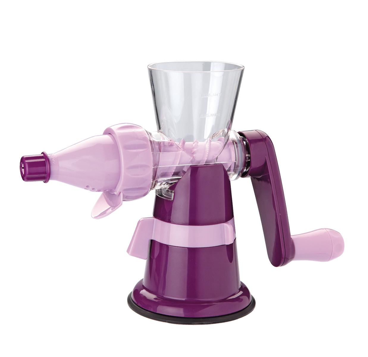 Соковыжималка шнековая Augustin Welz, цвет: фиолетовый3525 weisСоковыжималка надежно фиксируется на столе с помощью вакуумного основания. Конструкция бурава обеспечивает максимальную отдачу сока, обогащенного витаминами и минералами, без окисления, мякоти и косточек. Идально подходит для выжимки граната!