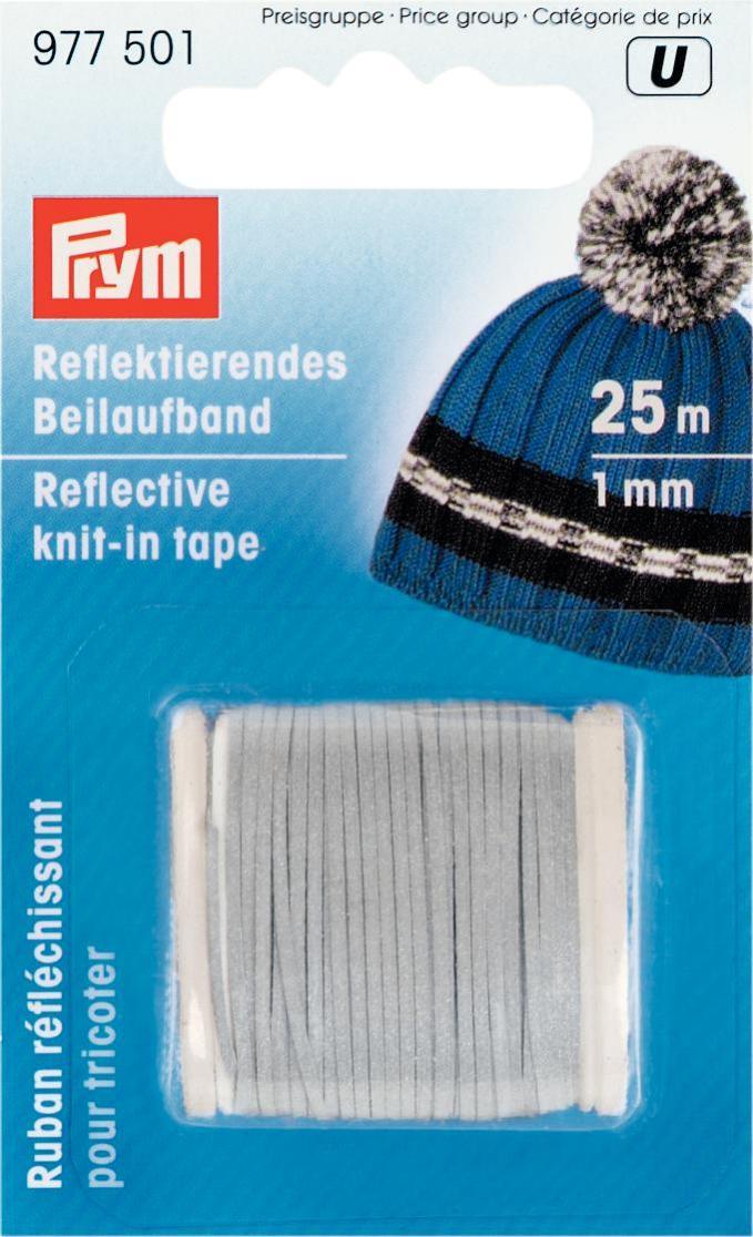 Лента для вязания Prym, светоотражающая, ширина 1 мм, длина 25 мCPD010Лента Prym добавляется при вязании к основной нити. Обладает светоотражающим эффектом.