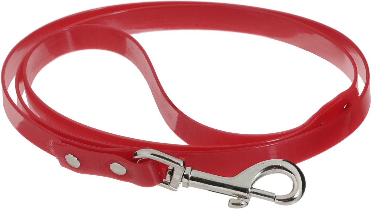 Поводок для собак Каскад Синтетик, цвет: красный, ширина 1,5 см, длина 1,2 м0120710Поводок для собак Каскад Синтетик изготовлен извысокотехнологичного биотана (нейлон, термопластичный полиуретан) и снабжен металлическим карабином. Поводок отличается не только исключительной надежностью и удобством, но и ярким дизайном. Он идеально подойдет для активных собак, для прогулок на природе и охоты. Поводок - необходимый аксессуар для собаки. Ведь в опасных ситуациях именно он способен спасти жизнь вашему любимому питомцу. Длина поводка: 1,2 м.Ширина поводка: 1,5 см.