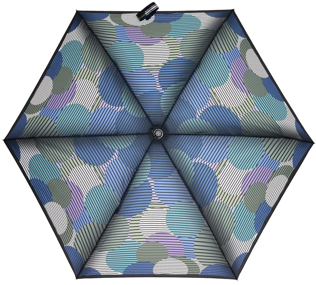 Зонт женский Henry Backer, 5 сложений, цвет: мультиколор. U34203 Big peas45102176/33205/7900XЛегкий женский зонт «Большой горох», мультиколор, механика Рукоять выполнена из нескользящего материала, ветроустойчивый каркас из алюминия и фибергласса.
