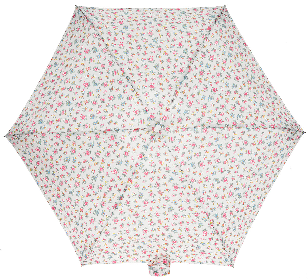 Зонт женский Fulton Cath Kidston, механический, 5 сложений, цвет: белый, мультиколор. L521-3133REM12-CAM-GREENBLACKКомпактный женский зонт Fulton выполнен из металла и пластика.Каркас зонта выполнен из шести спиц на прочном алюминиевом стержне. Купол зонта изготовлен из прочного полиэстера. Закрытый купол застегивается на хлястик с липучкой. Практичная рукоятка закругленной формы разработана с учетом требований эргономики и выполнена из натурального дерева.Зонт складывается и раскладывается механическим способом.Зонт дополнен легким плоским чехлом. Такая модель не только надежно защитит от дождя, но и станет стильным аксессуаром.