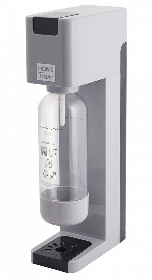 Сифон Home Bar Smart 110 NG, без баллона, цвет: серыйVT-1520(SR)Сифон для газирования воды SMART 110 NG с автоматическим сбросом давления. Классический дизайн, четкие линии, а также компактные размеры позволяют сифону найти свое достойное место на любой кухне. Предназначен для газирования чистой охлажденной воды. Рекомендуемая температура воды 5С.Для приготовления напитка сироп рекомендуется наливать в отдельную емкость.Автоматический сброс давления.Не требует электроэнергии.Совместим с баллонами SODASTREAM.Вкручивающийся разъем для установки баллона.Состав бутылки не содержит бисфенол A.Совместимость с 1л и 1,5 л бутылкой.Цвет: серый с черными вставками.Комплект: бутылка 1 л.Съемный поддон для капель.Страна производства: ИТАЛИЯ / КНР.Гарантия: 2 года.* Внимание! Для использования сифона требуется баллон 425г. на 60 литров воды. Приобретается отдельно.