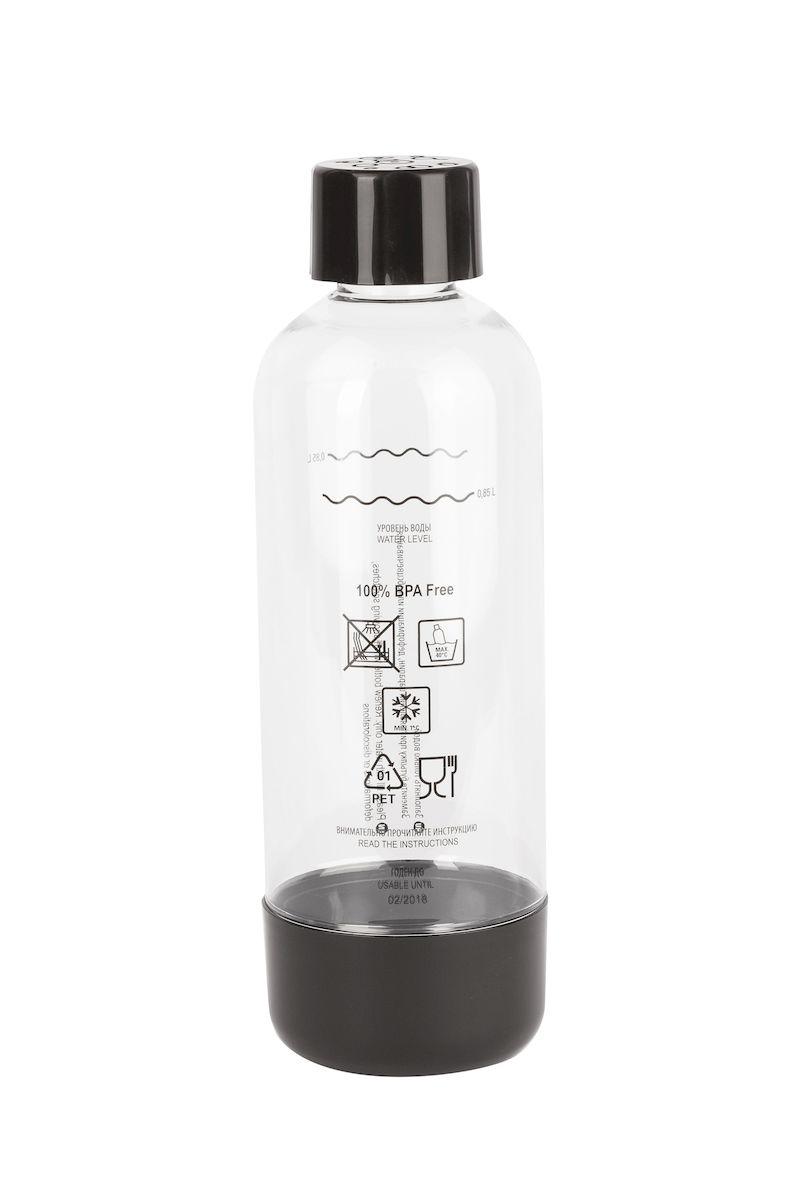 Бутылка для газирования воды Home Bar, цвет: черный, прозрачный, 1 лVT-1520(SR)Бутылка для газирования воды Home Bar изготовлена из высококачественной пластмассы без использования бисфенола А (BPA). Предназначена для использования в аппаратах для газирования воды и хранения готовых газированных напитков. Устойчива к высокому давлению. Совместима со всеми аппаратами для приготовления напитков Home Bar. Диаметр бутылки: 8,5 см. Высота: 27 см.
