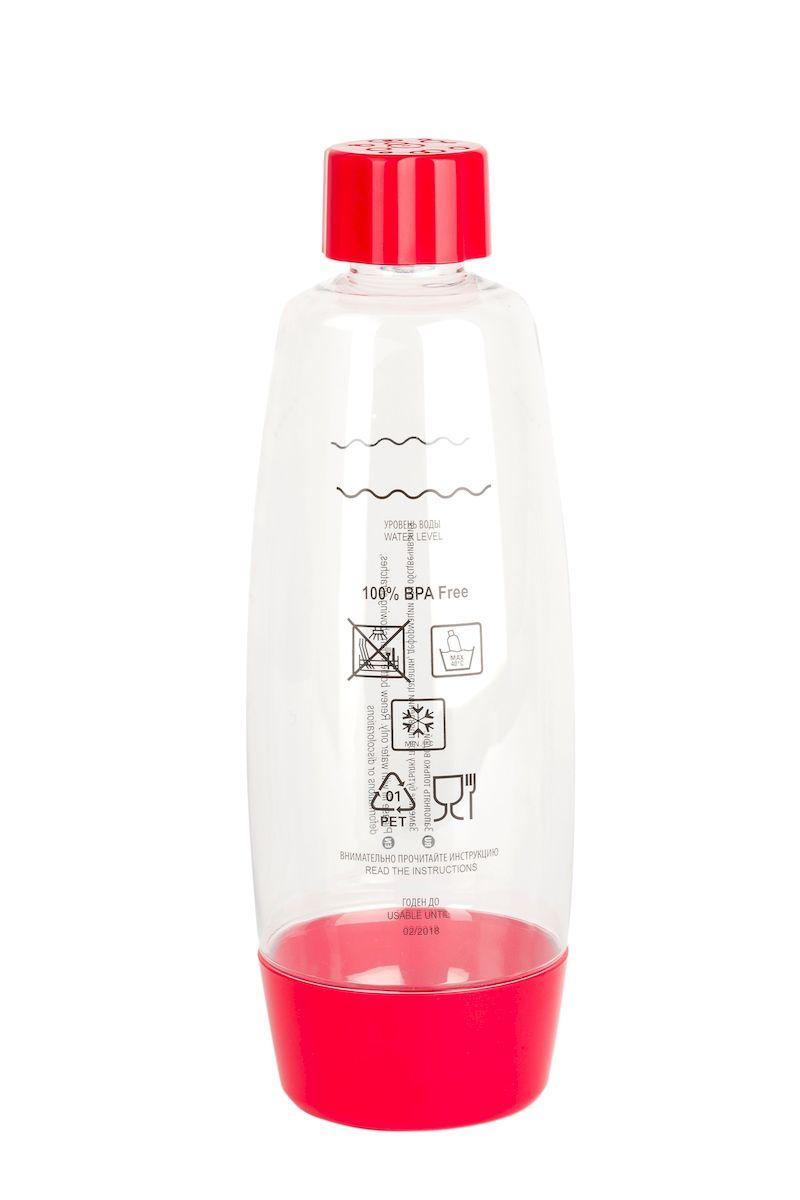 Бутылка для газирования воды Home Bar, цвет: красный, прозрачный, 1,5 лАксион Т-33Бутылка для газирования воды Home Bar изготовлена из высококачественной пластмассы без использования бисфенола А (BPA). Предназначена для использования в аппаратах для газирования воды и хранения готовых газированных напитков. Устойчива к высокому давлению. Совместима со всеми аппаратами для приготовления напитков Home Bar. Диаметр бутылки: 10 см. Высота: 29 см.
