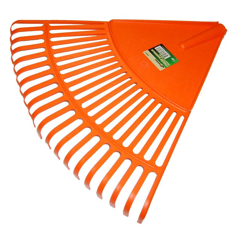 Грабли веерные Skrab, цвет: оранжевый, 20 зубовK100Веерные грабли Skrab изготовлены из прочного пластика идеально подходят для уборки листьев, срезанной травы и прочего садового мусора. Благодаря большому количеству зубцов, расположенных по принципу веера, уборка территории будет сделана в короткие сроки. Черенок в комплект не входит.