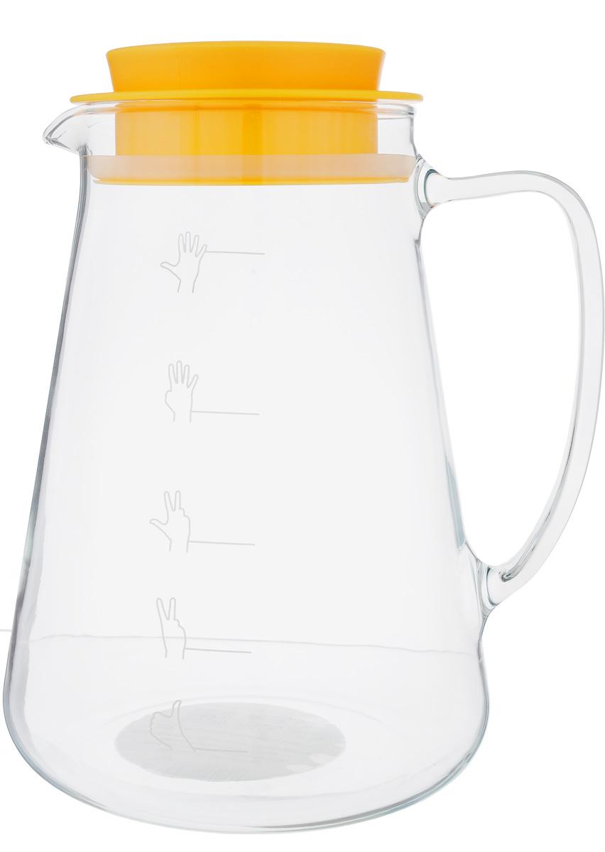 Кувшин для пива Tescoma My Drink, 2,5 л993124302Кувшин Tescoma My Drink, изготовленный извысококачественного термостойкого боросиликатногостекла, предназначен для разливного пива. Кувшиноснащен удобной ручкой, носиком для слива жидкостии плотно закрывающейся пластиковой крышкой ссиликоновым уплотнителем. Во время переноса кувшинапиво не протекает и более длительное время сохраняетпену и аромат. Можно мыть в посудомоечной машине.Высота кувшина (без учета крышки): 22 см.Диаметр кувшина (по верхнему краю): 10 см.Диаметр основания: 16 см. Уважаемые клиенты! Обращаем ваше внимание на тот факт, что мерка настенке кувшина носит ориентировочный характер и неоткалибрована.