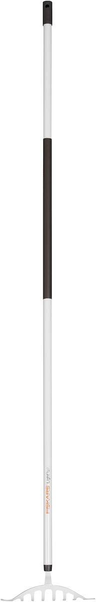 Грабли для роз облегченные Fiskars Light, 160 см.1024602Облегченные грабли Fiskars Light для роз подходят для уборки, распределения почвы или дерна на небольшой площади вокруг грядок и между растениями. Грабли особой формы из закаленной стали подходят для работы в узком пространстве между растениями или под ними. Алюминиевый черенок станет удобным подспорьем в работе для женщин. Пластиковое покрытие на черенке обеспечивает теплоизоляцию. Специальное отверстие позволяет повесить грабли на гвоздь для удобства хранения.Длина граблей: 160 см.