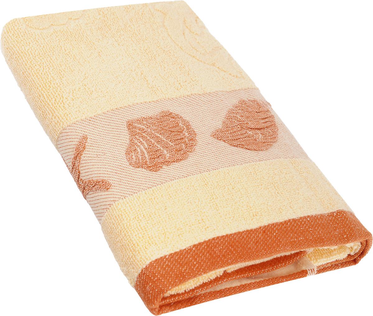 Полотенце Arya Marito, цвет: персиковый, оранжевый, 50 х 100 см391602Полотенце Arya Marito выполнено из 100% хлопка. Изделие отлично впитывает влагу, быстро сохнет, сохраняет яркость цвета и не теряет форму даже после многократных стирок. Такое полотенце очень практично и неприхотливо в уходе. Оно создаст прекрасное настроение и украсит интерьер в ванной комнате.