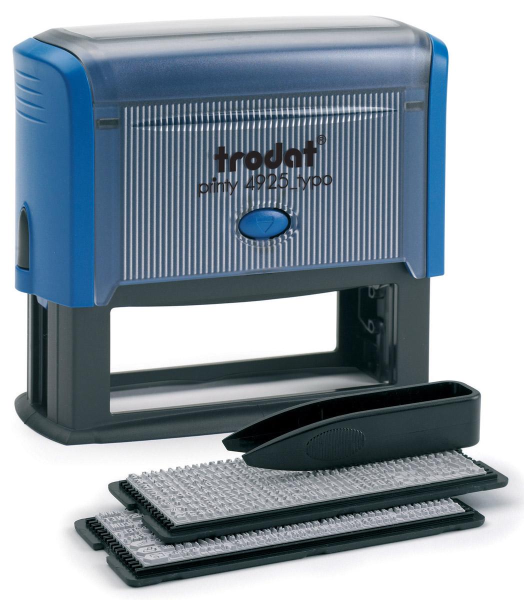 Trodat Штамп самонаборный пятистрочный 82 х 25 ммStampMouseR40/1SetСамонаборный пятистрочный русифицированный штамп Trodat с автоматическим окрашиванием будет незаменим в отделе кадров или в бухгалтерии любой компании. Прочный пластиковый корпус гарантирует долговечное бесперебойное использование. Модель отличается высочайшим удобством в использовании и оптимально ложится в руку благодаря эргономичной ручке. Оттиск проставляется практически бесшумно, легким нажатием руки. Улучшенная конструкция и видимая площадь печати гарантируют качество и точность оттиска. Символы надежно закрепляются в текстовой пластине. Модель оснащена кнопками блокировки и кнопочным механизмом замены подушки. Сменную штемпельную подушку необходимо заменять при каждом изменении текста. Размер строк - 82 х 25 мм.В комплект также входят: сменная подушка, пинцет, 2 кассы символов.Trodat - идеальный штамп для ежедневного использования в офисе, гарантирующий получение чистых и четких оттисков. Идеально подходит к самым разным требованиям в повседневной офисной жизни.