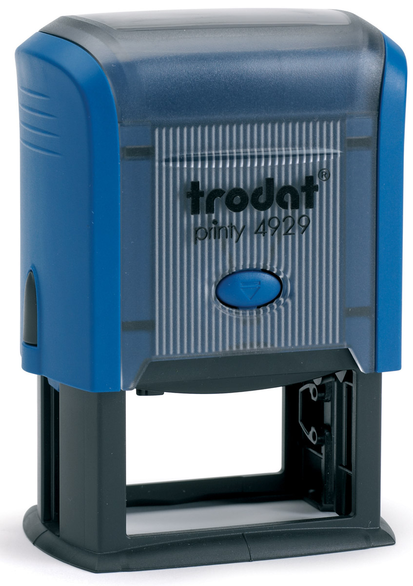Trodat Оснастка для штампа 50 х 30 мм4817Оснастка для штампа Trodat будет незаменима в отделе кадров или в бухгалтерии любой компании. Прочный пластиковый корпус с автоматическим окрашиванием гарантирует долговечное бесперебойное использование. Модель отличается высочайшим удобством в использовании и оптимально ложится в руку. Оттиск проставляется практически бесшумно, легким нажатием руки. Улучшенная конструкция и видимая площадь печати гарантируют качество и точность оттиска. Текстовые пластины прямоугольной формы 50 х 30 мм подойдут для изготовления клише по индивидуальному заказу. Модель оснащена кнопкой блокировки.Оснастка для штампа Trodat идеальна для ежедневного использования в офисе.
