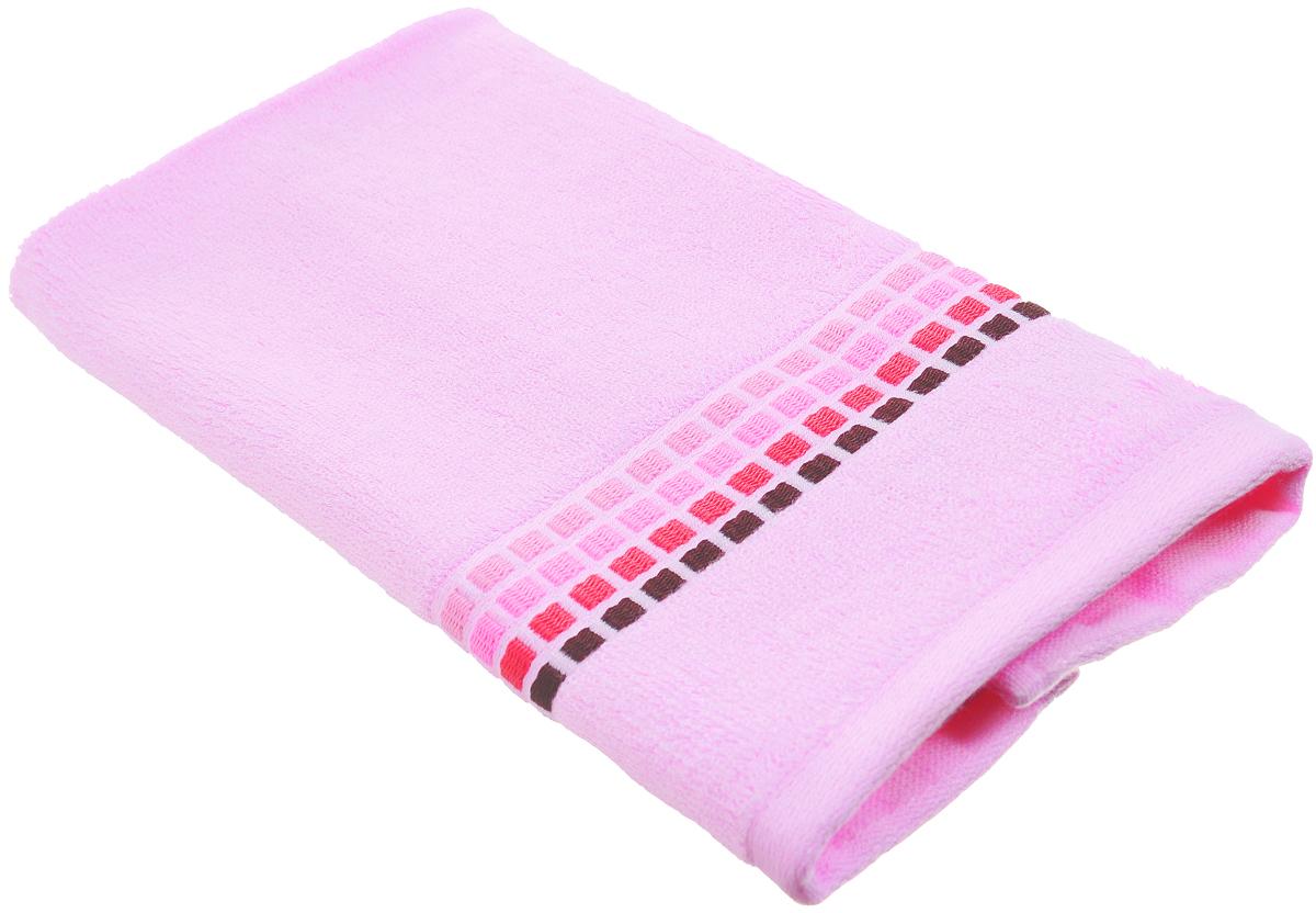 Полотенце Arya Edera, цвет: светло-розовый, 30 х 50 см68/5/4Полотенце Arya Edera выполнено из 100% хлопка. Изделие отлично впитывает влагу, быстро сохнет, сохраняет яркость цвета и не теряет форму даже после многократных стирок. Такое полотенце очень практично и неприхотливо в уходе. Оно создаст прекрасное настроение и украсит интерьер в ванной комнате.