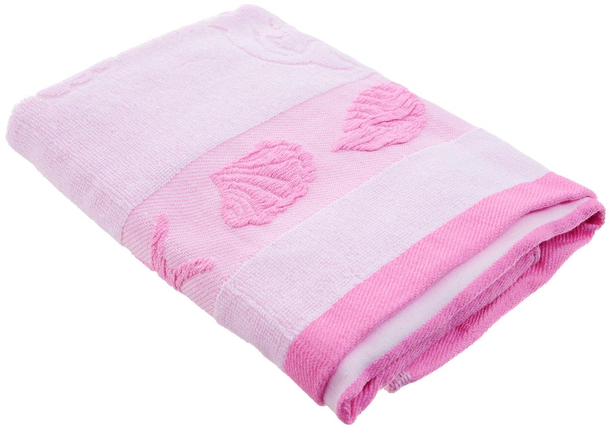 Полотенце Arya Marito, цвет: розовый, сиреневый, 50 х 100 см12723Полотенце Arya Marito выполнено из 100% хлопка. Изделие отлично впитывает влагу, быстро сохнет, сохраняет яркость цвета и не теряет форму даже после многократных стирок. Такое полотенце очень практично и неприхотливо в уходе. Оно создаст прекрасное настроение и украсит интерьер в ванной комнате.