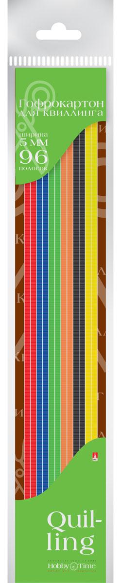 Альт Картон для гофроквиллинга 5 мм 96 полос 6 цветов72523WDГофрированный картон для квиллинга Альт обладает повышенной плотностью, что обеспечивает поделкам долговечность и прочность. Рельефная волнообразная фактура материала придает объемность готовым работам.Предварительно нарезанные узкие полоски шириной 5 мм используются для аппликаций и поделок в технике квиллинг, а также создания декоративных элементов для украшения шкатулок, фоторамок открыток. Набор включает 96 полосок шести насыщенных цветов.Создание поделок из цветного гофрированного картона поможет ребенку в развитии творческих способностей, увлечет и подарит ему праздник и хорошее настроение.