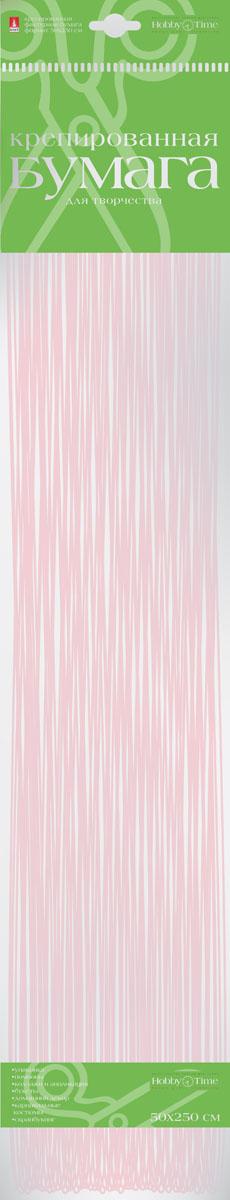 Альт Бумага креповая Перламутровая цвет розовый72523WDКреповая бумага Альт Перламутровая - подходящий материал для декора, объемных украшений и игрушек. Гофрированная жатая поверхность обеспечивает особую пластичность. Бумага не деформируется, сохраняет заданную форму, отлично сочетается с текстильными лентами, декоративными элементами. Размер листа: 50 см х 250 см.