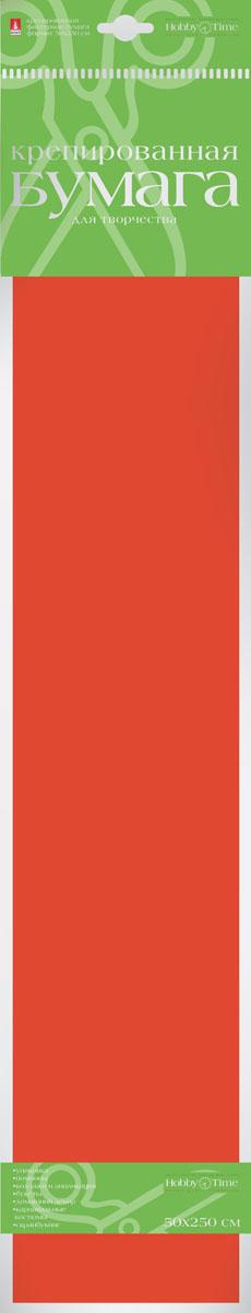 Альт Бумага креповая Флюоресцентная цвет оранжевый72523WDКреповая бумага Альт Флюоресцентная - подходящий материал для декора, объемных украшений и игрушек. Гофрированная жатая поверхность обеспечивает особую пластичность. Бумага не деформируется, сохраняет заданную форму, отлично сочетается с текстильными лентами, декоративными элементами. Необычный флуоресцентный эффект создает легкое сияние, которое поможет создать атмосферу праздника.Размер листа: 50 см х 250 см.