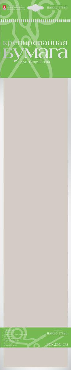 Альт Бумага креповая Пастельные цвета цвет серебристый серый2-059/04Креповая бумага Альт Пастельные цвета - подходящий материал для декора, объемных украшений и игрушек. Гофрированная жатая поверхность обеспечивает особую пластичность. Бумага не деформируется, сохраняет заданную форму, отлично сочетается с текстильными лентами, декоративными элементами. Размер листа: 50 см х 250 см.