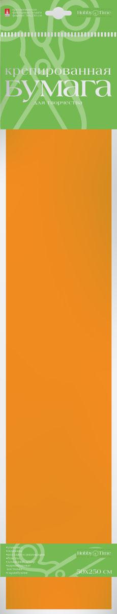 Альт Бумага креповая цвет оранжевый бумага художественная альт бумага с орнаментом тишью 10 листов горошек голубой фон