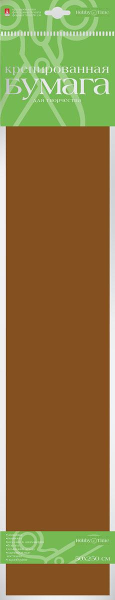 Альт Бумага креповая цвет темно-коричневый бумага художественная альт бумага с орнаментом тишью 10 листов горошек голубой фон
