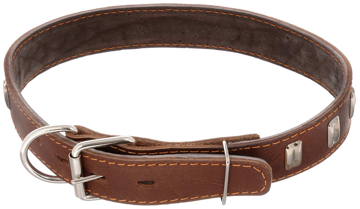 """Ошейник для собак Каскад """"Классика"""", двойной, ширина 3,5 см, обхват шеи 50-59 см. 00035061к"""