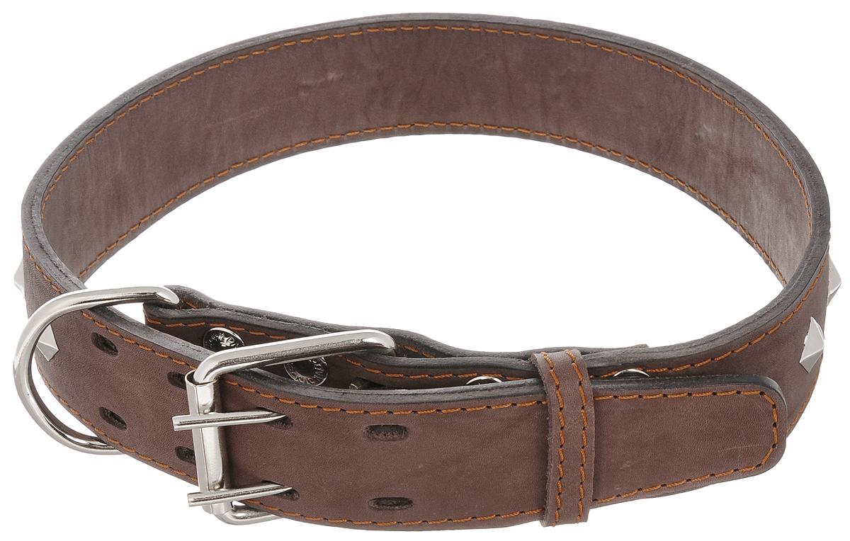 """Ошейник для собак Каскад """"Классика"""", двойной, ширина 4,5 см, обхват шеи 57-66 см. 00045061к"""