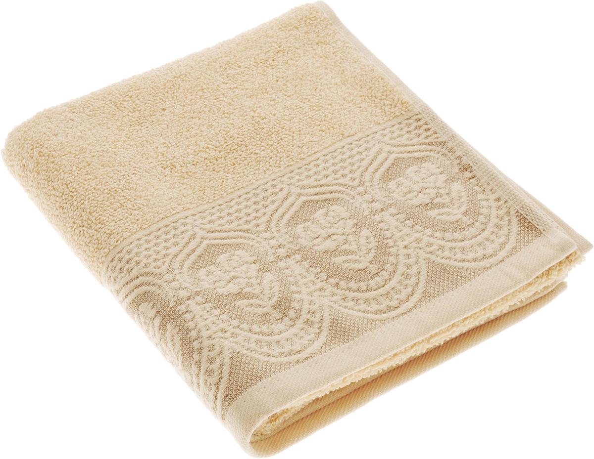 Полотенце Arya Bella, цвет: бежевый, 50 х 90 смBH-UN0502( R)Полотенце Arya Bella выполнено из 100% хлопка. Изделие отлично впитывает влагу, быстро сохнет, сохраняет яркость цвета и не теряет форму даже после многократных стирок. Такое полотенце очень практично и неприхотливо в уходе. Оно создаст прекрасное настроение и украсит интерьер в ванной комнате.