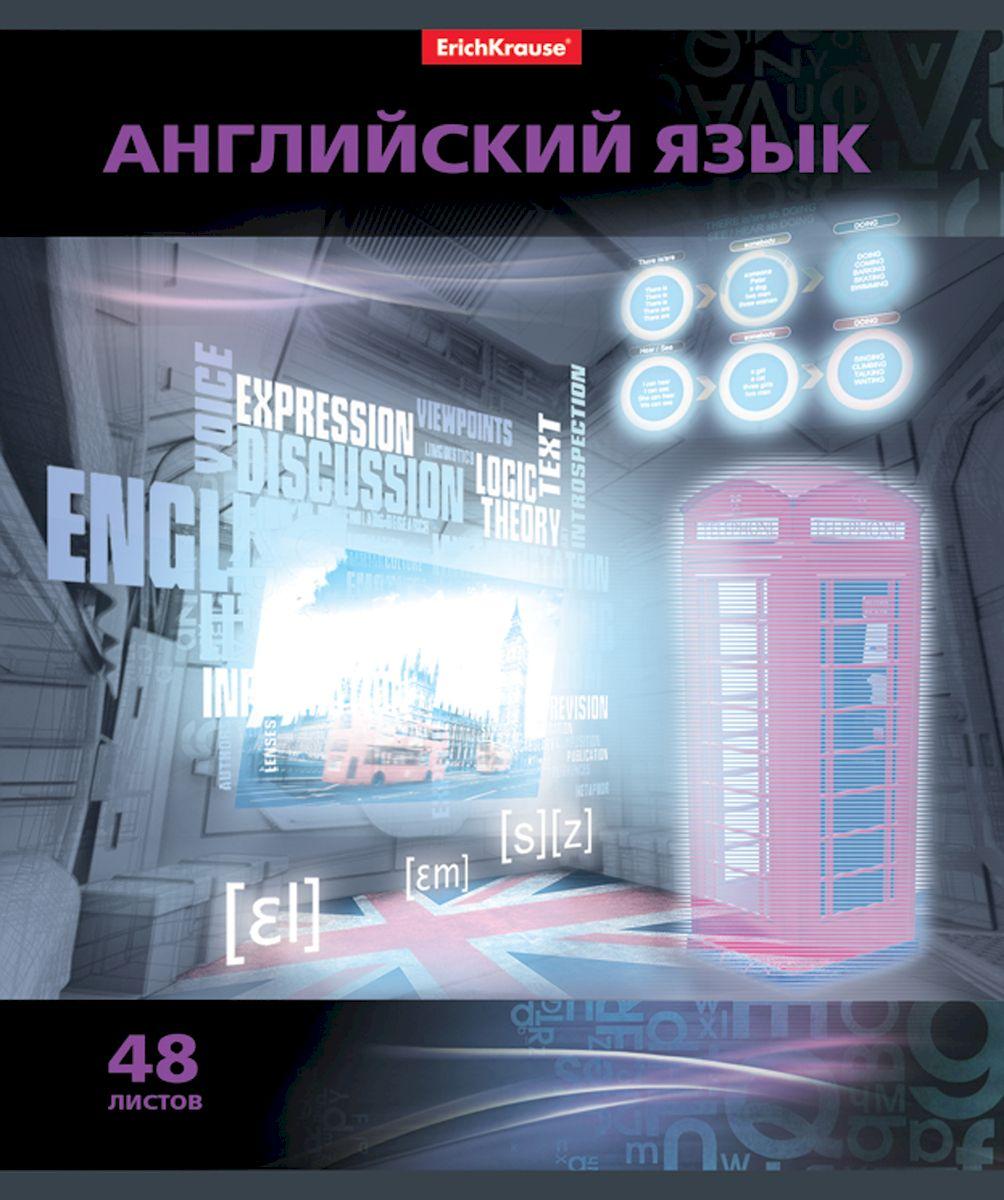 Erich Krause Тетрадь Videoterminal Английский язык 48 листов в клетку72523WDТетрадь 48 листов. Обложка: картон мелованный 170 г/м2 Блок:бумага офсетная 60г/м2 .