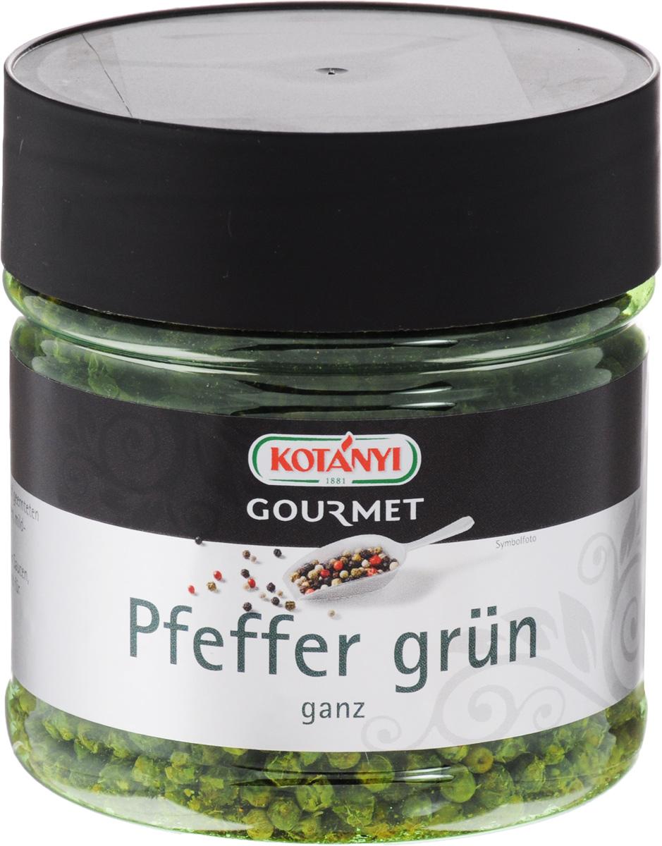 Kotanyi Перец зеленый горошек, 120 г77116695/77099242/77096327Зеленый перец получают из плодов той же перечной лианы, что и черный, и белый перец. Незрелые ягоды (горошины) перца собирают и подвергают сушке таким образом, чтобы сохранить их зеленый цвет. Зеленый перец Kotanyi в том или ином виде можно добавить в паштеты, колбасы, сыры, закусочное сливочное масло с различными наполнителями, в мясо, запеченное на гриле, в разнообразные блюда из рыбы. Также пряность кладут в маринады, соусы, подливы, некоторые пряные смеси. Зеленый перец не так жгуч, как черный, а потому не обжигает слизистую. Молотый зеленый перец лучше всего класть в уже готовые блюда или добавлять в конце их приготовления.