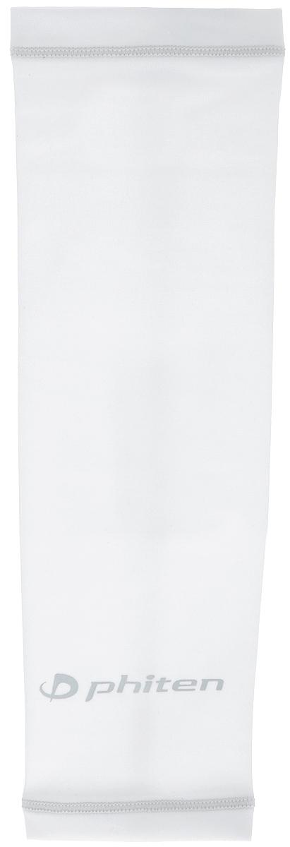 Рукав силовой Phiten X30, цвет: белый, серый. Размер S (19-25 см). SL523203SL523203Силовой рукав Phiten X30, выполненный из 85% полиэстера и 15% полиуретана, идеально подходит для поддержки и увеличения силы мышц (плеча/предплечия) спортсменов. Рукав снимает мышечное напряжение, повышает выносливость и силу мышц. Он мягко фиксирует суставы, но при этом абсолютно не стесняет движения.Пропитка Aqua Titan с фактором X30 увеличивает эластичность мышц и связок, а также хорошо поглощает и испарять пот, что позволяет продлить ощущение комфорта при тренировках.Изделие специально разработано таким образом, чтобы соответствовать форме руки и обеспечить плотное прилегание, а благодаря инновационным материалам, рукав действительно поможет вам в процессе тяжелой тренировки или любой серьезной нагрузки.Силовой рукав Phiten X30 способствует:- улучшению циркуляции крови в организме;- разгрузке поврежденного сустава; - уменьшению усталости;- снятию излишнего напряжения и скорейшему восстановлению сил;- обеспечивает компрессионный эффект.