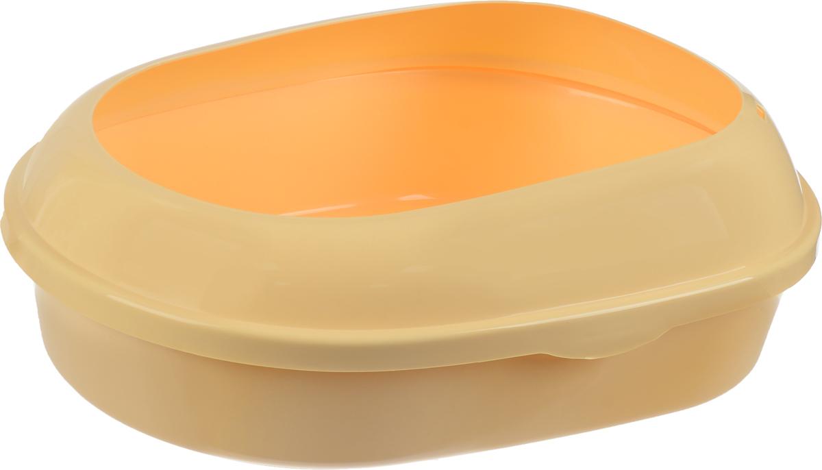 Туалет для кошек Каскад, с бортом, цвет: кремовый, 51 х 37 х 17 см9312214_кремовыйТуалет для кошек Каскад выполнен из прочного пластика. Высокий борт, прикрепленный по периметру лотка, удобно защелкивается и предотвращает разбрасывание наполнителя. Благодаря качественным материалам лоток легко убирается, быстро сохнет и не впитывает посторонние запахи.