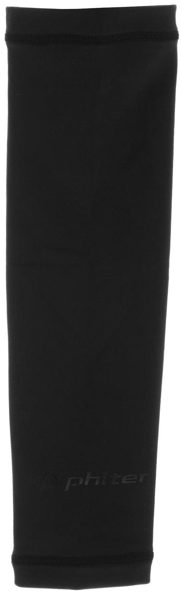 Рукав силовой Phiten X30, цвет: черный. Размер S (19-25 см). SL523003ASS-02 S/MСиловой рукав Phiten X30, выполненный из 85% полиэстера и 15% полиуретана, идеально подходит для поддержки и увеличения силы мышц (плеча/предплечия) спортсменов. Рукав снимает мышечное напряжение, повышает выносливость и силу мышц. Он мягко фиксирует суставы, но при этом абсолютно не стесняет движения.Пропитка Aqua Titan с фактором X30 увеличивает эластичность мышц и связок, а также хорошо поглощает и испарять пот, что позволяет продлить ощущение комфорта при тренировках.Изделие специально разработано таким образом, чтобы соответствовать форме руки и обеспечить плотное прилегание, а благодаря инновационным материалам, рукав действительно поможет вам в процессе тяжелой тренировки или любой серьезной нагрузки.Силовой рукав Phiten X30 способствует:- улучшению циркуляции крови в организме;- разгрузке поврежденного сустава; - уменьшению усталости;- снятию излишнего напряжения и скорейшему восстановлению сил;- обеспечивает компрессионный эффект.