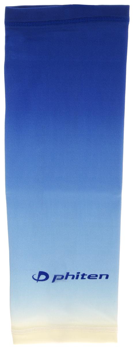 Рукав силовой Phiten X30, цвет: синий. Размер L (26-32 см)SL528105Силовой рукав Phiten X30, выполненный из 85% полиэстера и 15% полиуретана, идеально подходит для поддержки и увеличения силы мышц (плеча/предплечия) спортсменов. Рукав снимает мышечное напряжение, повышает выносливость и силу мышц. Он мягко фиксирует суставы, но при этом абсолютно не стесняет движения.Пропитка Aqua Titan с фактором X30 увеличивает эластичность мышц и связок, а также хорошо поглощает и испарять пот, что позволяет продлить ощущение комфорта при тренировках.Изделие специально разработано таким образом, чтобы соответствовать форме руки и обеспечить плотное прилегание, а благодаря инновационным материалам, рукав действительно поможет вам в процессе тяжелой тренировки или любой серьезной нагрузки.Силовой рукав Phiten X30 способствует:- улучшению циркуляции крови в организме;- разгрузке поврежденного сустава; - уменьшению усталости;- снятию излишнего напряжения и скорейшему восстановлению сил;- обеспечивает компрессионный эффект.