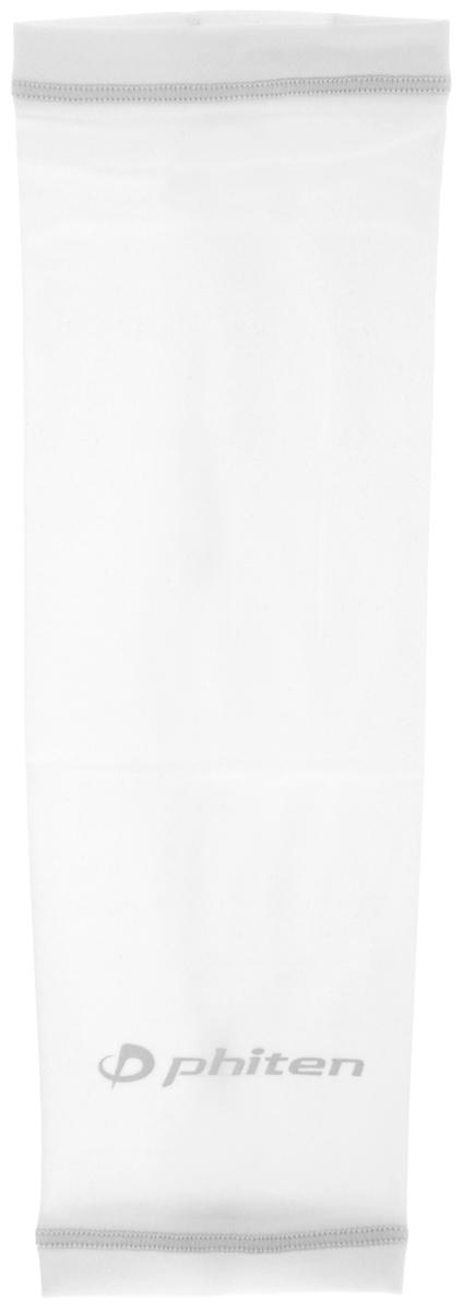 Рукав силовой Phiten X30, цвет: белый, серый. Размер М (23-29 см). SL523204SL523204Силовой рукав Phiten X30, выполненный из 85% полиэстера и 15% полиуретана, идеально подходит для поддержки и увеличения силы мышц (плеча/предплечия) спортсменов. Рукав снимает мышечное напряжение, повышает выносливость и силу мышц. Он мягко фиксирует суставы, но при этом абсолютно не стесняет движения.Пропитка Aqua Titan с фактором X30 увеличивает эластичность мышц и связок, а также хорошо поглощает и испарять пот, что позволяет продлить ощущение комфорта при тренировках.Изделие специально разработано таким образом, чтобы соответствовать форме руки и обеспечить плотное прилегание, а благодаря инновационным материалам, рукав действительно поможет вам в процессе тяжелой тренировки или любой серьезной нагрузки.Силовой рукав Phiten X30 способствует:- улучшению циркуляции крови в организме;- разгрузке поврежденного сустава; - уменьшению усталости;- снятию излишнего напряжения и скорейшему восстановлению сил;- обеспечивает компрессионный эффект.