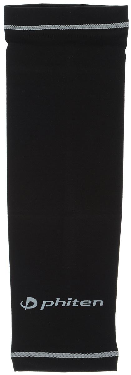 Рукав силовой Phiten X30, цвет: черный, серый. Размер S (19-25 см). SL523103AQ7754Силовой рукав Phiten X30, выполненный из 85% полиэстера и 15% полиуретана, идеально подходит для поддержки и увеличения силы мышц (плеча/предплечия) спортсменов. Рукав снимает мышечное напряжение, повышает выносливость и силу мышц. Он мягко фиксирует суставы, но при этом абсолютно не стесняет движения.Пропитка Aqua Titan с фактором X30 увеличивает эластичность мышц и связок, а также хорошо поглощает и испарять пот, что позволяет продлить ощущение комфорта при тренировках.Изделие специально разработано таким образом, чтобы соответствовать форме руки и обеспечить плотное прилегание, а благодаря инновационным материалам, рукав действительно поможет вам в процессе тяжелой тренировки или любой серьезной нагрузки.Силовой рукав Phiten X30 способствует:- улучшению циркуляции крови в организме;- разгрузке поврежденного сустава; - уменьшению усталости;- снятию излишнего напряжения и скорейшему восстановлению сил;- обеспечивает компрессионный эффект.