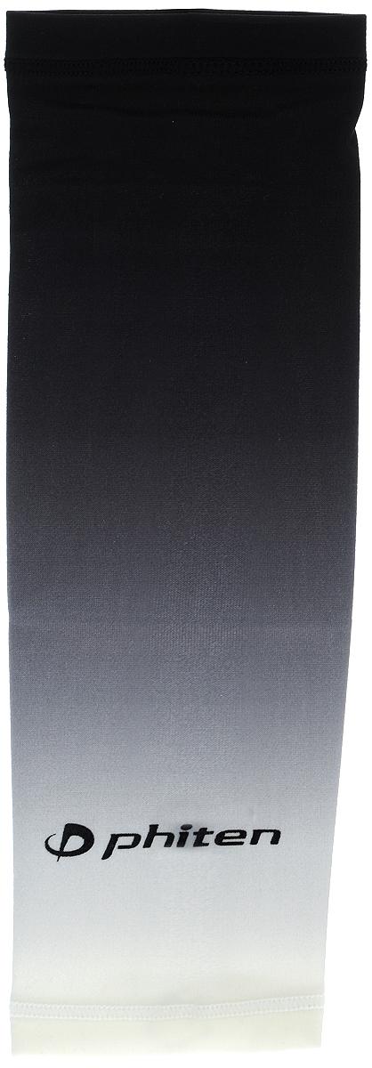 Рукав силовой Phiten X30, цвет: черный, серый, белый. Размер М (23-29 см). SL5280041508160Силовой рукав Phiten X30, выполненный из 85% полиэстера и 15% полиуретана, идеально подходит для поддержки и увеличения силы мышц (плеча/предплечия) спортсменов. Рукав снимает мышечное напряжение, повышает выносливость и силу мышц. Он мягко фиксирует суставы, но при этом абсолютно не стесняет движения.Пропитка Aqua Titan с фактором X30 увеличивает эластичность мышц и связок, а также хорошо поглощает и испарять пот, что позволяет продлить ощущение комфорта при тренировках.Изделие специально разработано таким образом, чтобы соответствовать форме руки и обеспечить плотное прилегание, а благодаря инновационным материалам, рукав действительно поможет вам в процессе тяжелой тренировки или любой серьезной нагрузки.Силовой рукав Phiten X30 способствует:- улучшению циркуляции крови в организме;- разгрузке поврежденного сустава; - уменьшению усталости;- снятию излишнего напряжения и скорейшему восстановлению сил;- обеспечивает компрессионный эффект.