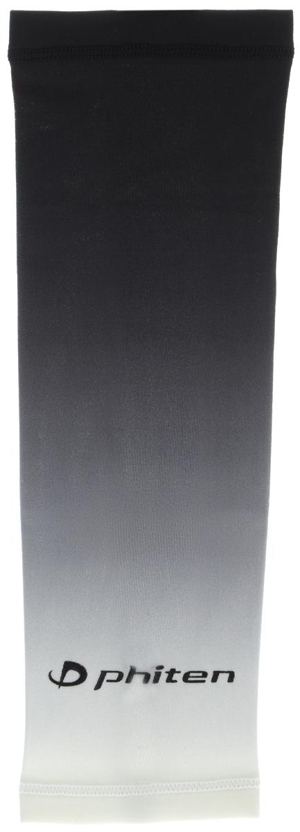 Рукав силовой Phiten X30, цвет: черный, серый, белый. Размер S (19-25 см). SL528003AIRWHEEL M3-162.8Силовой рукав Phiten X30, выполненный из 85% полиэстера и 15% полиуретана, идеально подходит для поддержки и увеличения силы мышц (плеча/предплечия) спортсменов. Рукав снимает мышечное напряжение, повышает выносливость и силу мышц. Он мягко фиксирует суставы, но при этом абсолютно не стесняет движения.Пропитка Aqua Titan с фактором X30 увеличивает эластичность мышц и связок, а также хорошо поглощает и испарять пот, что позволяет продлить ощущение комфорта при тренировках.Изделие специально разработано таким образом, чтобы соответствовать форме руки и обеспечить плотное прилегание, а благодаря инновационным материалам, рукав действительно поможет вам в процессе тяжелой тренировки или любой серьезной нагрузки.Силовой рукав Phiten X30 способствует:- улучшению циркуляции крови в организме;- разгрузке поврежденного сустава; - уменьшению усталости;- снятию излишнего напряжения и скорейшему восстановлению сил;- обеспечивает компрессионный эффект.