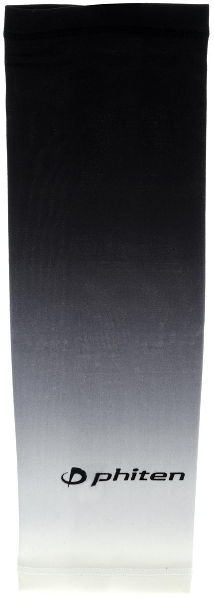 Рукав силовой Phiten X30, цвет: черный, серый, белый. Размер L (26-32 см). SL528005BB1637Силовой рукав Phiten X30, выполненный из 85% полиэстера и 15% полиуретана, идеально подходит для поддержки и увеличения силы мышц (плеча/предплечия) спортсменов. Рукав снимает мышечное напряжение, повышает выносливость и силу мышц. Он мягко фиксирует суставы, но при этом абсолютно не стесняет движения.Пропитка Aqua Titan с фактором X30 увеличивает эластичность мышц и связок, а также хорошо поглощает и испарять пот, что позволяет продлить ощущение комфорта при тренировках.Изделие специально разработано таким образом, чтобы соответствовать форме руки и обеспечить плотное прилегание, а благодаря инновационным материалам, рукав действительно поможет вам в процессе тяжелой тренировки или любой серьезной нагрузки.Силовой рукав Phiten X30 способствует:- улучшению циркуляции крови в организме;- разгрузке поврежденного сустава; - уменьшению усталости;- снятию излишнего напряжения и скорейшему восстановлению сил;- обеспечивает компрессионный эффект.